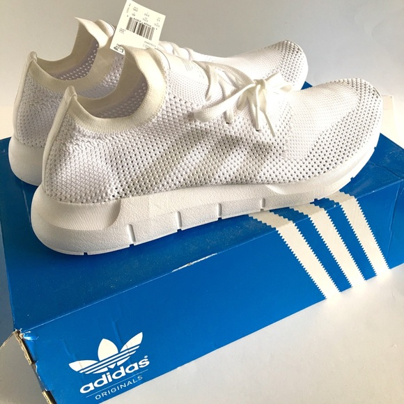 size 40 8a224 ec093 Adidas Swift Run Primeknit Sneakers Sz 13 white